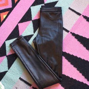 BCBG leather effect legging